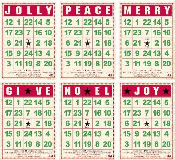 Jenni Bowlin Studio - Mini Bingo Cards - Christmas