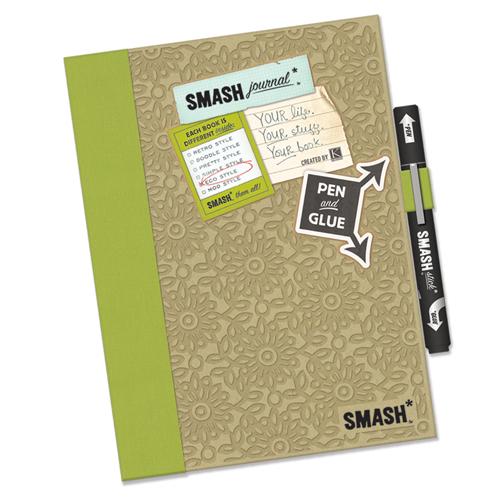 SMASH Eco Green Folio Journal Book Lot Pad Stickies Pocket |Smash Folio Journal Kit