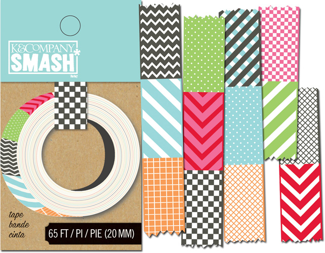 K and company smash collection decorative tape swatch for Tape works decorative tape