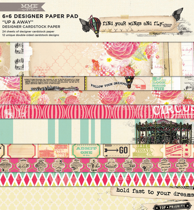 Up & Away collection - 6x6 cardstock paper
