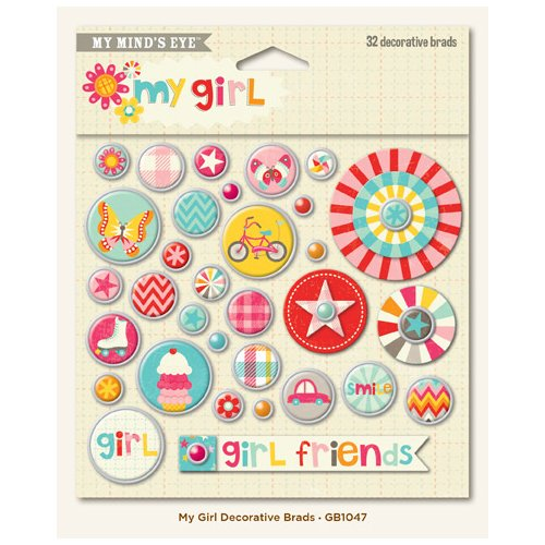 My Girl collection - Decorative Brads