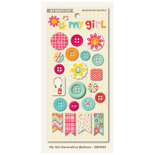 My Girl collection - Decorative Buttons