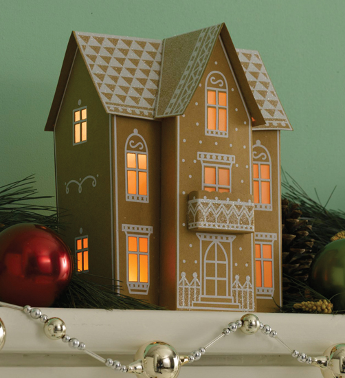 Galleries: Gingerbread House With Porch Template , Gingerbread House ...