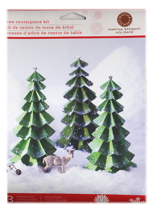 Martha stewart crafts holiday tree centerpiece for Martha stewart xmas crafts