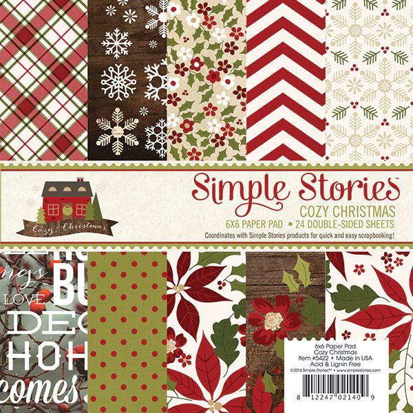 Simple Stories  Cozy Christmas Collection  6 x 6 Paper Pad
