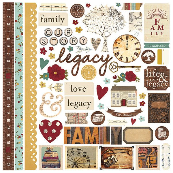 Simple Stories - Legacy Collection - 12 x 12 Cardstock ...