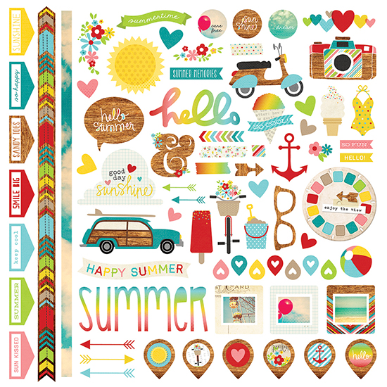Simple Stories Good Day Sunshine Fundamentals Stickers
