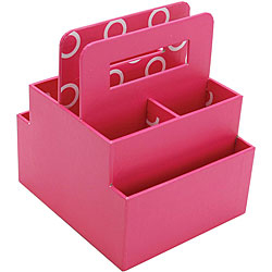 Everything mary scrapbook station desktop organizer - Pink desk organizer ...