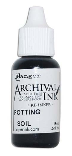 Ranger ink wendy vecchi archival ink reinker potting for Potting soil clearance