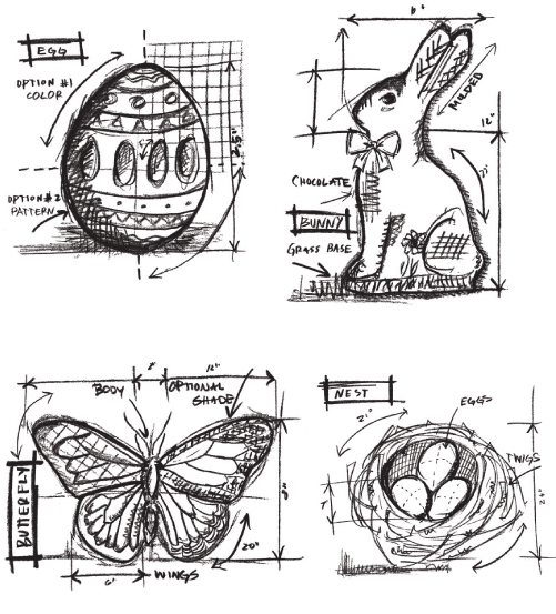 Stampers Anonymous Tim Holtz Easter Blueprint Stamp Set