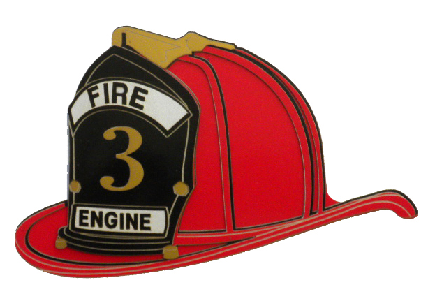 Paper Wizard - Die Cuts - Firefighter's Helmet