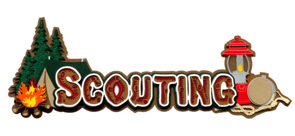 Paper Wizard - Die Cuts - Scouting Title: store.scrapbook.com/pw-sl-scout-t.html