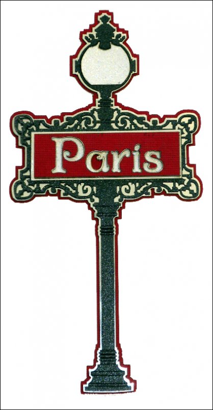 Paper wizard die cuts paris street sign - Boutique scrapbooking paris ...