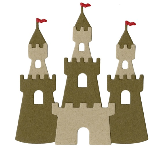 cut out castle template - lifestyle crafts sand castle die