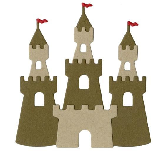cut out castle template - lifestyle crafts sand castle die