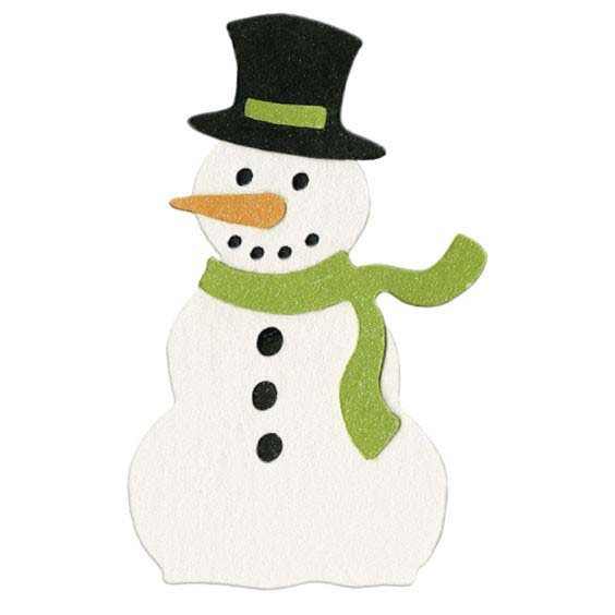 Lifestyle Crafts - Die Cutting Template - Christmas - Snowman