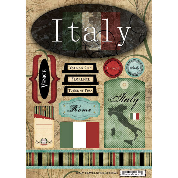 Scrapbook Customs - World Collection - Italy - Cardstock ...