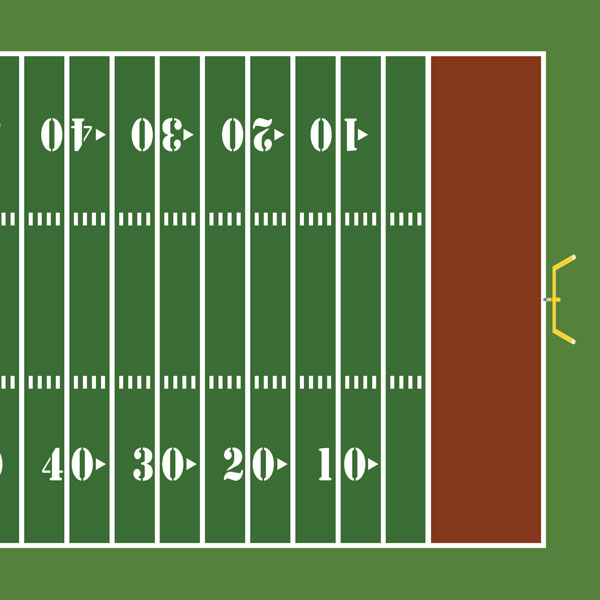 how to draw a football field on paper