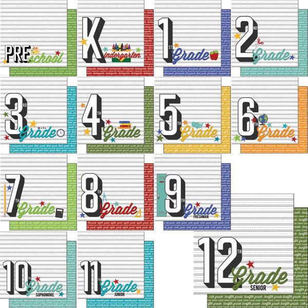 Scrapbook Customs 12 X 12 Scrapbook Kit School Years