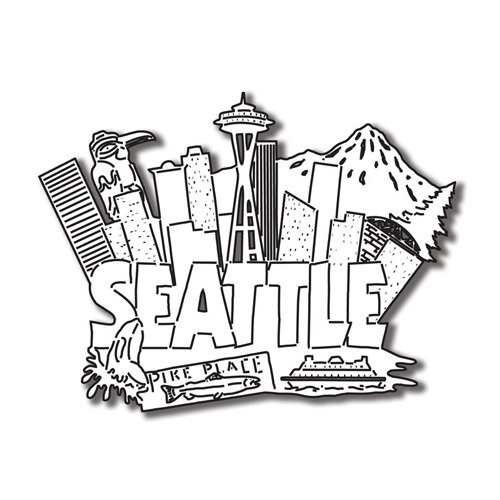 coloring pages space needle - photo#22