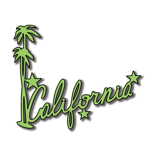 The word california in cursive