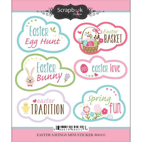 Scrapbook Customs - Cardstock Stickers - Easter Sayings - Repeats