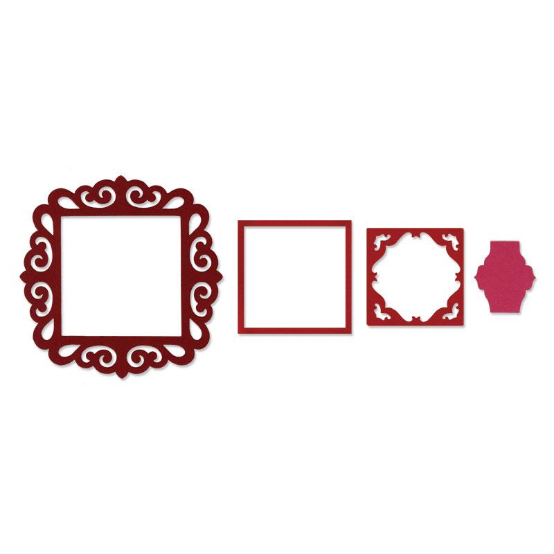 Sizzix - Framelits Die - Frame, Fancy SquareFancy Square Frame