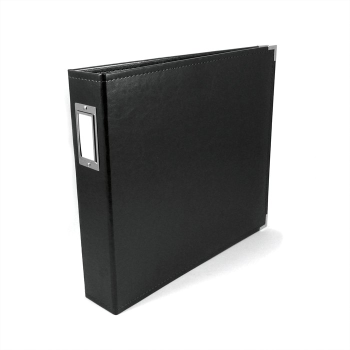 We R Memory Keepers Black 12 X 12 Leather Album